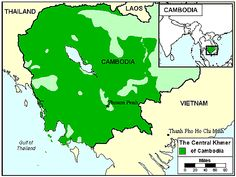 Pray / Khmer, Central of Cambodia map