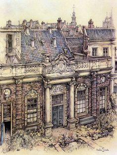 Anton Pieck Fantasy Architecture