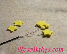 How to Put Stars  (or other shapes) on Wires for Cakes
