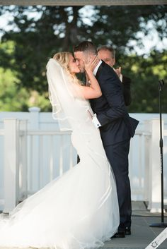 First kiss as husband and wife! Wedding photography at Carlyle on the Green - SIlverfox Weddings, Long Island wedding photo, video and dj