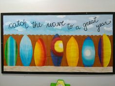 Catch the wave to a great year! Surf and beach themed classroom.
