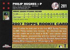 2007 Topps Chrome #281 Phil Hughes Back