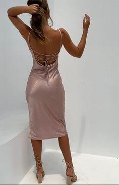 Femme Bretelle Satin Robe Longue Dos-Nu Faux Soie Slips Complet Cocktail