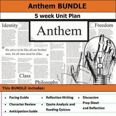 Anthem Ayn Rand, Socratic Method, Pacing Guide, Teachers Toolbox, Theme Words, Think Deeply, Thesis Statement, Author Studies, Unit Plan