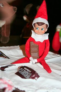 Elf on the Shelf LOVES chocolate