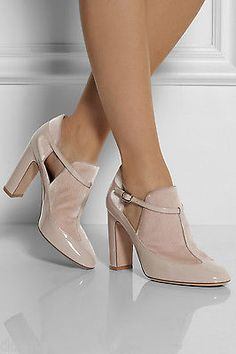 1-6K-VALENTINO-rockstud-NUDE-BLUSH-patent-leather-mary-jane-bootie-boot-shoe-38