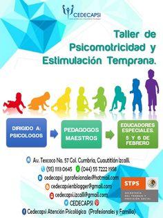 """Taller de """"Psicomotricidad y estimulación temprana"""" 5 y 6 de febrero. Email: cedecapsi_pprofesionales@hotmail.com"""