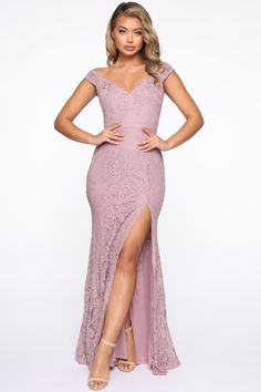 Let's Tango Mermaid Maxi Gown - Blush Long Sleeve Midi Dress, Black Midi Dress, Slit Dress, Blazer Dress, Debut Gowns, Cold Shoulder Gown, Mauve Dress, Maxi Gowns, Lace Maxi