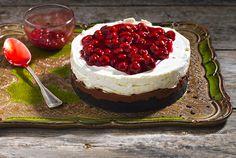 Cheesecake με Merenda και βύσσινο