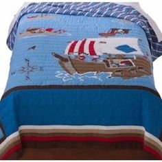 Free Shipping. Buy Circo Pirate Ship Stitched Full Queen Bed Quilt Pirates Adventure Comforter at Walmart.com