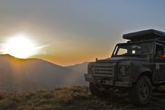 """Porthos"" overlanding on the border between Greece and Albany Land Rover Defender Puma"
