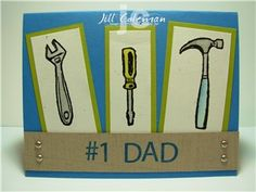 #1 Dad Father's Day Card using Totally Tool stamp set