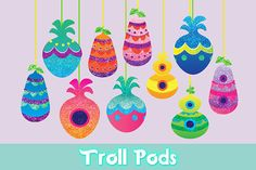 ♥ Troll Pods! • Digital Print ♥ Includes 10 Troll Pods! Recreate Troll Village with these cute Troll Pods! Just cut them out and add some string and voila! ♥ See more of my Trolls Party Decor here!!! --> www.etsy.com/shop/TheDreamShoppeCo?ref=l2-shopheader-name§ion_id=23286203