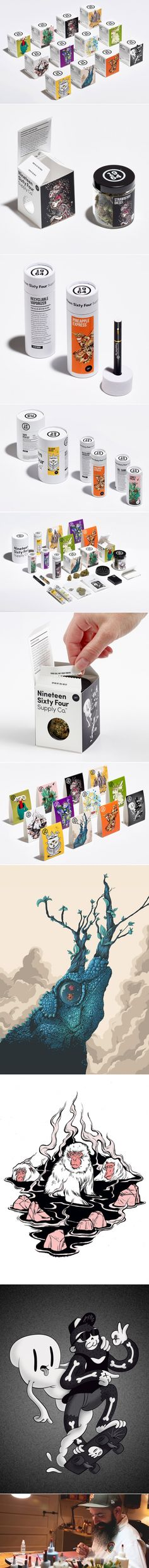 This Cannabis Packaging Comes With Awesome Illustrations — The Dieline | Packaging & Branding Design & Innovation News