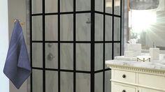 Gridscape Series Custom Factory Windowpane Shower Door by Coastal Shower Doors via Homestyler