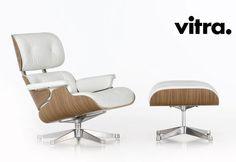 VITRA LOUNGE CHAIR Y NEGRO OTOMANO (Diseño Charles y Ray Eames 1956)