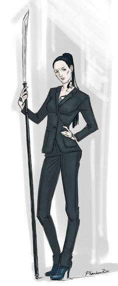 "phantomrin:  Maryse Lightwood (""the Mortal Instruments"" by Cassandra Clare)I really like that fierceness of Maryse and Isabelle (in a good sense))  I love this, it seems to show how Maryse is: fierce but essentially kind, very changed by her experience in the Circle and her marriage."
