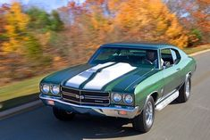 1970 Chevrolet Chevelle coupe SS / Super Sport Baldwin Chevrolet - Motion Performance modified Phase III 454 cid big block, side pipes and L88-style hood were common options.