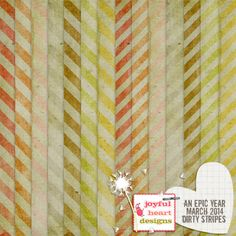 An Epic Year: Mar. 2014 {dirty stripes} :: Papers :: Memory Scraps