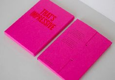 Kerr Vernon: That's Impressive Print Promotion | That's Impressive  is a print piece designed by Kerr Vernon in collaboration with Glasgow Press. The colorful piece is com prised of five letter pressed post cards featuring songs by some of their favorite Glasgow bands. | designworklife