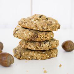 Cookies sains au quinoa, noisettes et chocolat !