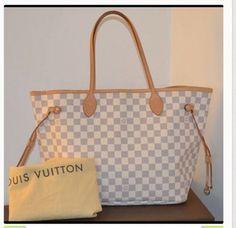 Louis Vuitton 100% Neverfull Mm Azur Comes With Dustbag Shoulder Bag $859