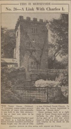 The Tower House Childwall Liverpool Home, Today Pictures, Tower House, Modern Metropolis, Where The Heart Is, Family History, Old Town, Acre, City