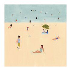Beach print 8x8 by KatePugsley on Etsy #etsy #illustrations