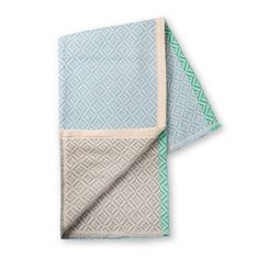 Blue & Grey Geo Stripe Throw