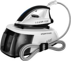 Get through your ironing faster and more easily with the Russell Hobbs Steam Power 24420 Steam Generator Iron.Heating up in only one minute, the Steam Power 24420 uses powerful jets of steam to help y