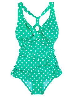 Oceanside Skirted One-Piece We love this suit's classic polka dots and twist-front style. The UPF 50 sun protection adds a modern (and practical) upgrade. ($84.95, LLBean.com) Read more: Retro Style Swimsuits for Women - Vintage Inspired Swimsuits - Country Living