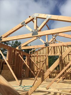 shed plans! Start building amazing sheds the easier way. with a collection of shed plans! Roof Truss Design, Backyard Pavilion, Building A Shed, Building Homes, Timber Structure, Roof Trusses, A Frame House, Pergola With Roof, Timber House