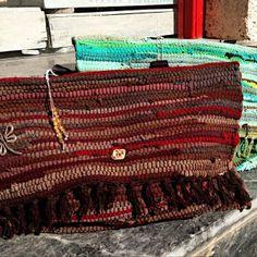 Boho handmade Bags | Tria-Aegina Diy Bags, Handmade Bags, Straw Bag, Arts And Crafts, Boho, Crochet, Handmade Handbags, Bohemian, Ganchillo