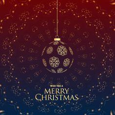 luxury premium merry christmas greeting with hanging balls