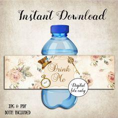Alice in Wonderland Drink Me Bottle Labels - Digital, Printable,Party,Wedding,Baby Shower