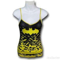 Batgirl Mesh Women's Cami & Panty Set