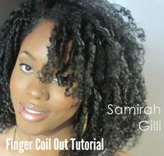 This Fabulous Finger Coil Out tutorial shows step by step instructions on how to create a stunning and easy style for your natural hair! | Natural Hairstyles for Black Women | via @naturalhairmag.