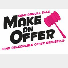Everything must go!  NO REASONABLE OFFER REFUSED All items must go!  Ready. Set.  Ship Other