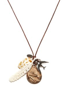 Chan Luu Multi Charm Necklace - earthy touches are made for boho summer clothes.