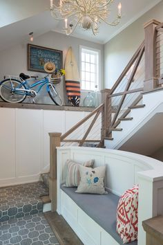 Bench and stair railing-- perfect