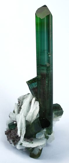 Tourmaline with Cleavelandite - Pederneira Mine, Minas Gerais, Brazil