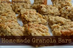 homemade granola bars title