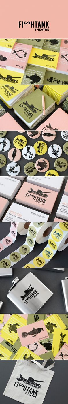Fishtank Theatre branding by Design Ranch | Fivestar Branding Agency – Design and Branding Agency & Curated Inspiration Gallery #theatre #branding #businesscards #design #logo #behance #pinterest #dribbble #fivestarbranding