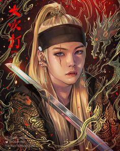 Daechwita - Agust D Fan art Bts Suga, Min Yoongi Bts, Agust D, Foto Bts, Bts Anime, Fanart Bts, Taehyung Fanart, Min Yoonji, Fan Art