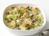 Potato-Leek Soup w/ Bacon