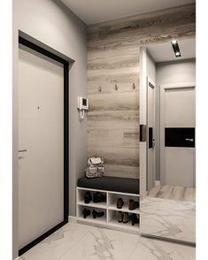 Home Room Design, Interior Design Living Room, House Design, Flur Design, Hall Design, Home Entrance Decor, Entryway Decor, White Home Decor, Diy Home Decor