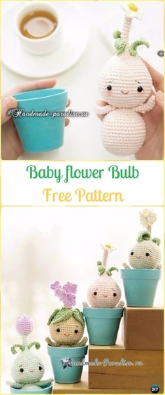 Crochet Baby Flower Plant Bulb Dolls Free Pattern - Crochet Plant Free Patterns