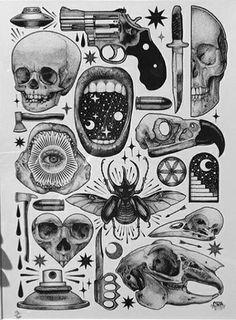 Tattoo designs drawings inspiration illustrations 52 Ideas for 2019 Flash Art Tattoos, Tattoos 3d, Tattoo Flash Sheet, Body Art Tattoos, Small Tattoos, Styles Of Tattoos, Arabic Tattoos, Dragon Tattoos, Black Tattoos