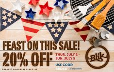The Fourth of July may be a little different this year but there's still fun to be had with a backyard bbq and a 20% off sale! So indulge in both and have a great holiday, everybody! Use code BBQ4U in checkout to get 20% off on all BLIK retail products from July 2 - July 5, 2020. July 5th, Fourth Of July, Patterned Wall Tiles, Off Sale, Backyard Bbq, Happy 4 Of July, Wall Patterns, Gift Certificates, Home Office Decor