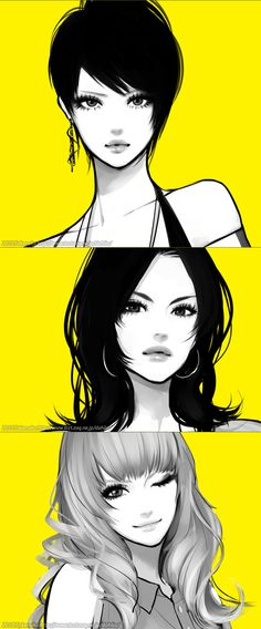 Girls illustration, drawing / Ragazze, illustrazione, disegno - by Dahlia Takenaka